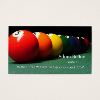 Pool-Billard Zug oder Spieler-Ball-Tabelle Visitenkarte