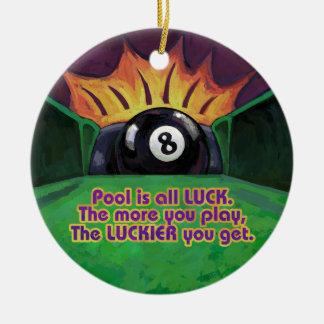 Pool ist Glück Keramik Ornament