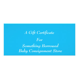 Pool-Party-blaue Geschenk-Zertifikat-Schablone Werbekarte