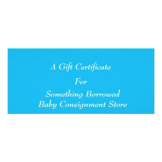 Pool-Party-blaue Geschenk-Zertifikat-Schablone Werbekarten
