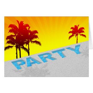 Pool-Party Karte