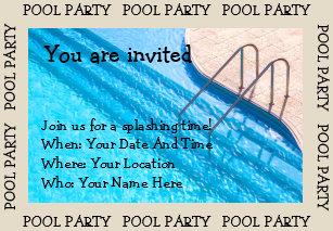 Pool Party Einladungen   Zazzle.at