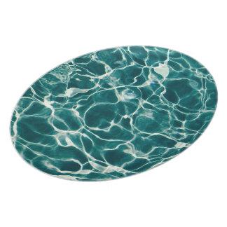 Poolwassermuster Melaminteller