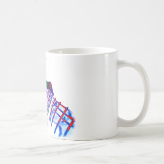 Pop Art Guitar Tapping Kaffeetasse