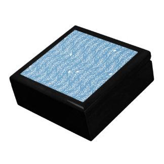 Pop-Blumen-Blätter-blaue Fliesen-Geschenkboxen Erinnerungskiste