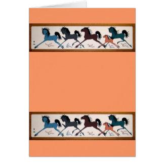 Pop Chalee Pferdewandgemälde Grußkarte