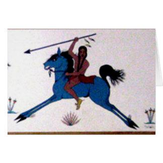 Pop Charlee Büffel-Jagd-Wandgemälde Grußkarte