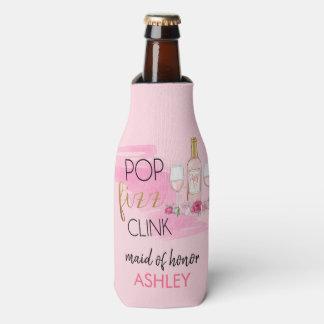 POP. FIZZ. CLINK. Junggeselinnen-Abschieds-Flasche Flaschenkühler