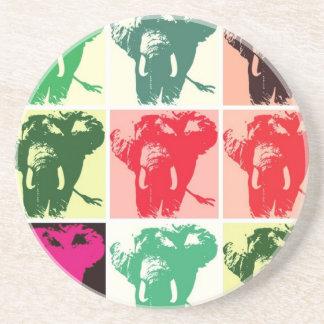 Pop-Kunst-Elefanten Getränkeuntersetzer