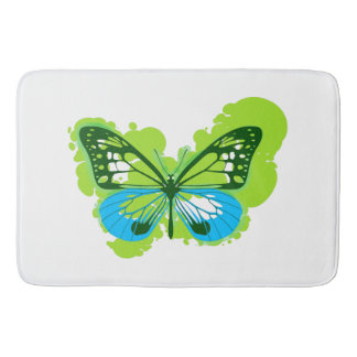 Pop-Kunst-Grün-Schmetterlings-Bad-Matte Badematte