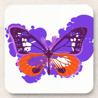 Pop-Kunst-lila Schmetterlings-Untersetzer Untersetzer