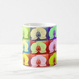 Pop-Kunst-Orchideen Tasse