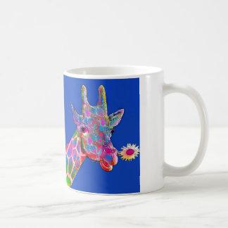 Pop-Kunst-Sonnenblume-Giraffe Tasse