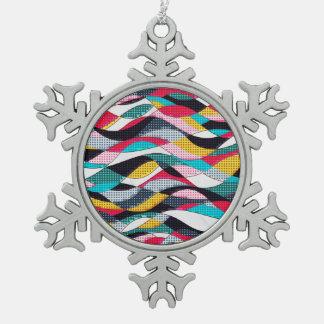 Pop-Kunst-Welle Schneeflocken Zinn-Ornament