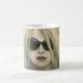 Pop PunkGrrrl modernes Malerei-Frau-Porträt Tasse