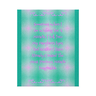 Pop-rosa Baby-Mädchen-Wunder-Zitat Gespannte Galeriedrucke