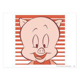 Porky Schwein ausdrucksvolle 23 Postkarte