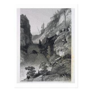 Portage im Hoarfrost-Fluss am 19. August 1833 für Postkarte