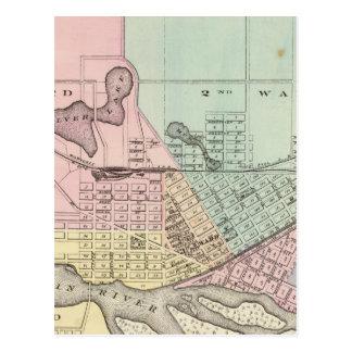 Portage, Landkreissitz von Kolumbien Co Postkarte