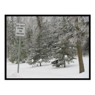 Portage - Schnee-Spaß Postkarte