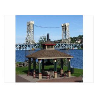 Portage See-Aufzug-Brücke Postkarte