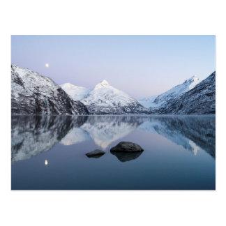 Portage See-Dämmerung Postkarte
