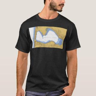 Portage See, MI-Seediagramm-T - Shirt