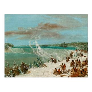 Portage um die Fälle von Niagara am Postkarte