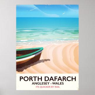 Porth Dafarch, Anglesey Waliser Strandplakat Poster