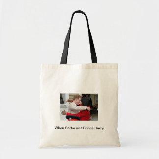 Portia und Prinz Harry Tote Bag Tragetasche