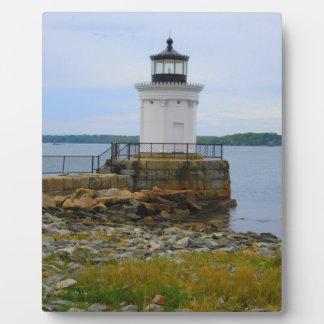 Portland-Wellenbrecher-Leuchtturm Fotoplatte