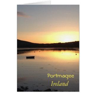 Portmagee Irland irische Gruß-Karte Grußkarte