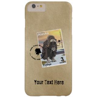 Porto-Briefmarken-Andenken Alaskas Muskox Barely There iPhone 6 Plus Hülle