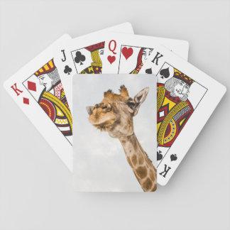 Porträt der Giraffen-Spielkarten Spielkarten