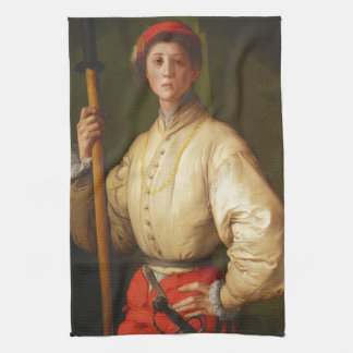 Porträt eines Halberdier durch Pontormo Handtuch