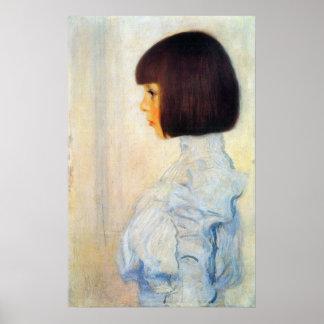 Porträt Helene Klimt durch Gustav Klimt Poster
