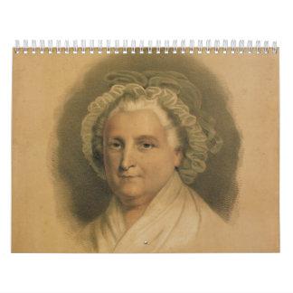 Porträt Marthas Washington durch Ives Abreißkalender