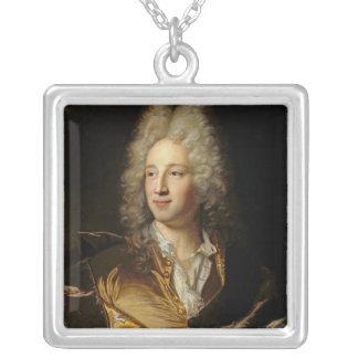 Porträt setzte voraus, Louis-Alexandre zu sein Halskette Mit Quadratischem Anhänger