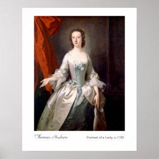 Porträt Thomas der Hudson einer Dame Art Print Poster