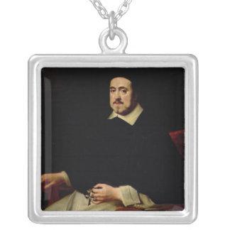 Porträt von Ambrosius Cappelus Halskette Mit Quadratischem Anhänger