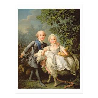 Porträt von Charles Philippe von Frankreich Postkarte