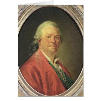 Porträt von Christoph Willibald von Gluck, 1777 Karte