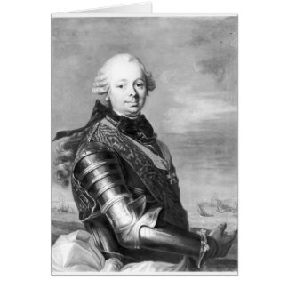 Porträt von Etienne-Francois, Herzog von Choiseul Karte