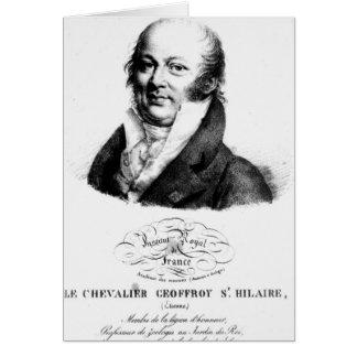 Porträt von Etienne Geoffroy Heilig-Hilaire Karte