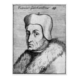 Porträt von Francesco Guicciardini Postkarte