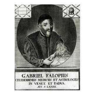 Porträt von Gabriel Fallopius Postkarte