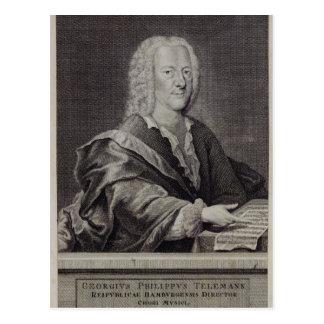 Porträt von Georg Philipp Telemann Postkarte