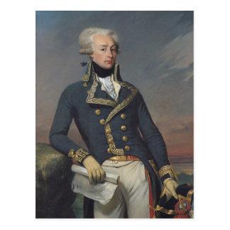 Porträt von Gilbert Motier als Leutnant Postkarte