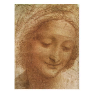 Porträt von Heiliger Anne durch Leonardo da Vinci Postkarte