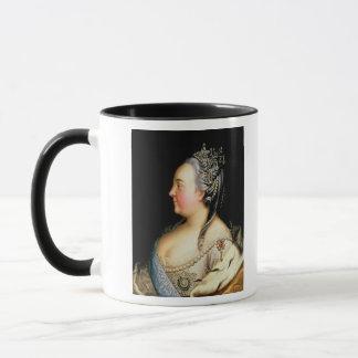 Porträt von Kaiserin Elizabeth Petrovna Tasse